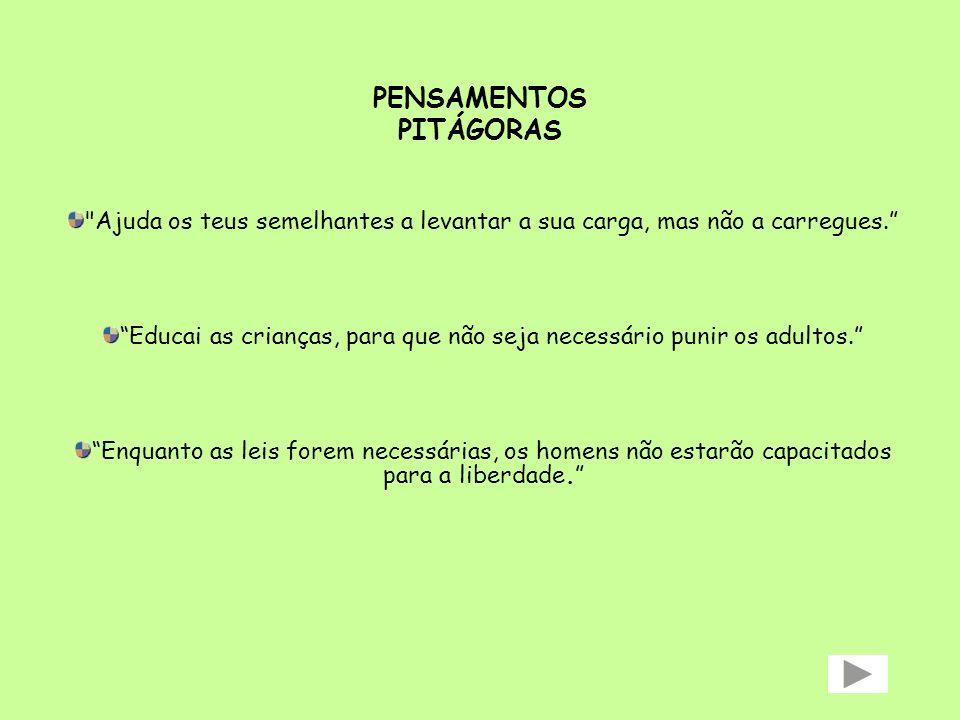 PENSAMENTOS PITÁGORAS
