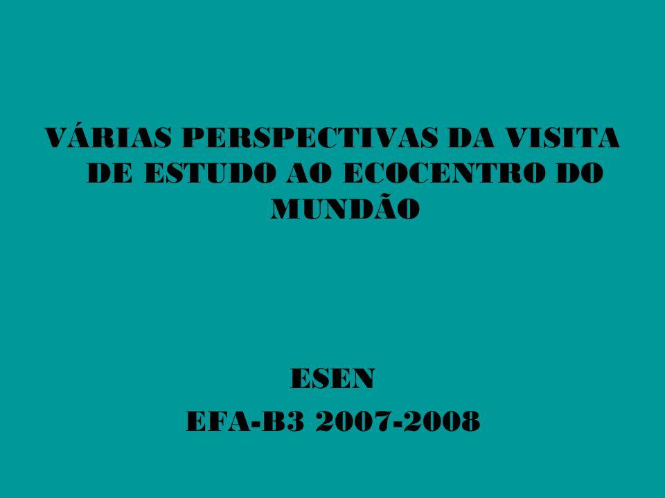 VÁRIAS PERSPECTIVAS DA VISITA DE ESTUDO AO ECOCENTRO DO MUNDÃO ESEN EFA-B3 2007-2008