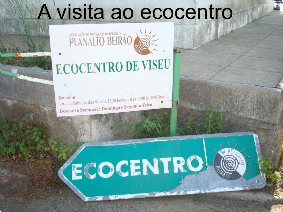 A visita ao ecocentro
