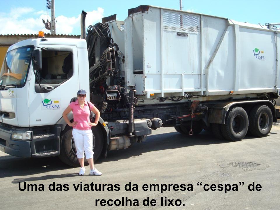 Uma das viaturas da empresa cespa de recolha de lixo.