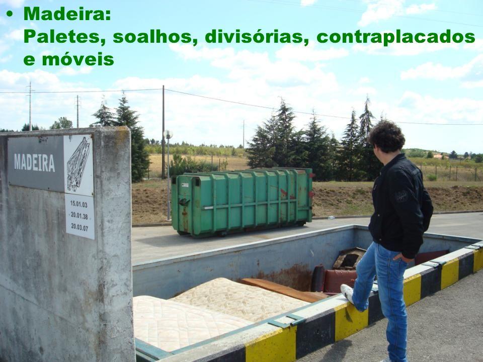 Madeira: Paletes, soalhos, divisórias, contraplacados e móveis