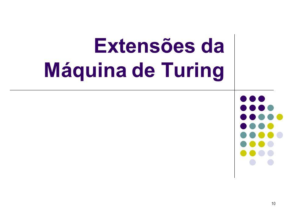 10 Extensões da Máquina de Turing