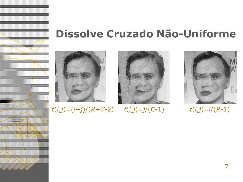7 Dissolve Cruzado Não-Uniforme t(i,j)=(i+j)/(R+C-2) t(i,j)=j/(C-1) t(i,j)=i/(R-1)