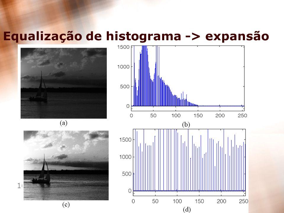 16 Equalização de histograma -> expansão