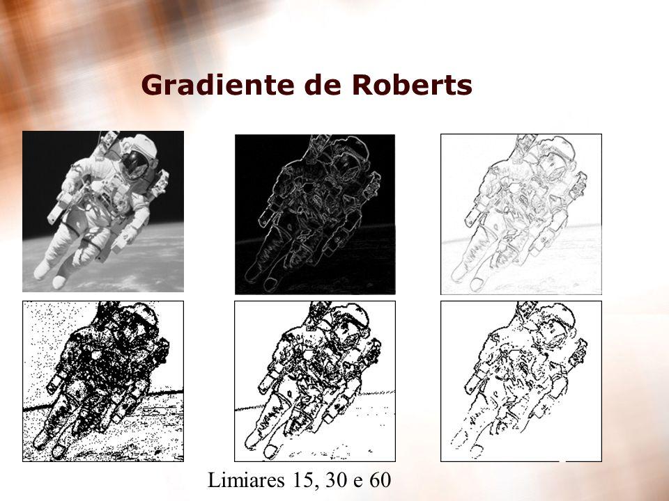 28 Gradiente de Roberts Limiares 15, 30 e 60