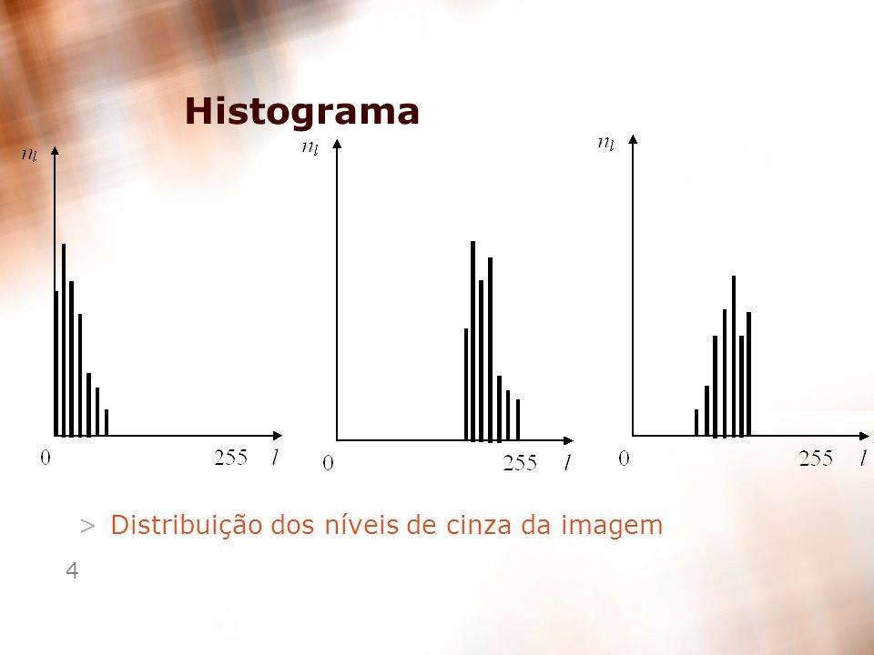 4 Histograma >Distribuição dos níveis de cinza da imagem