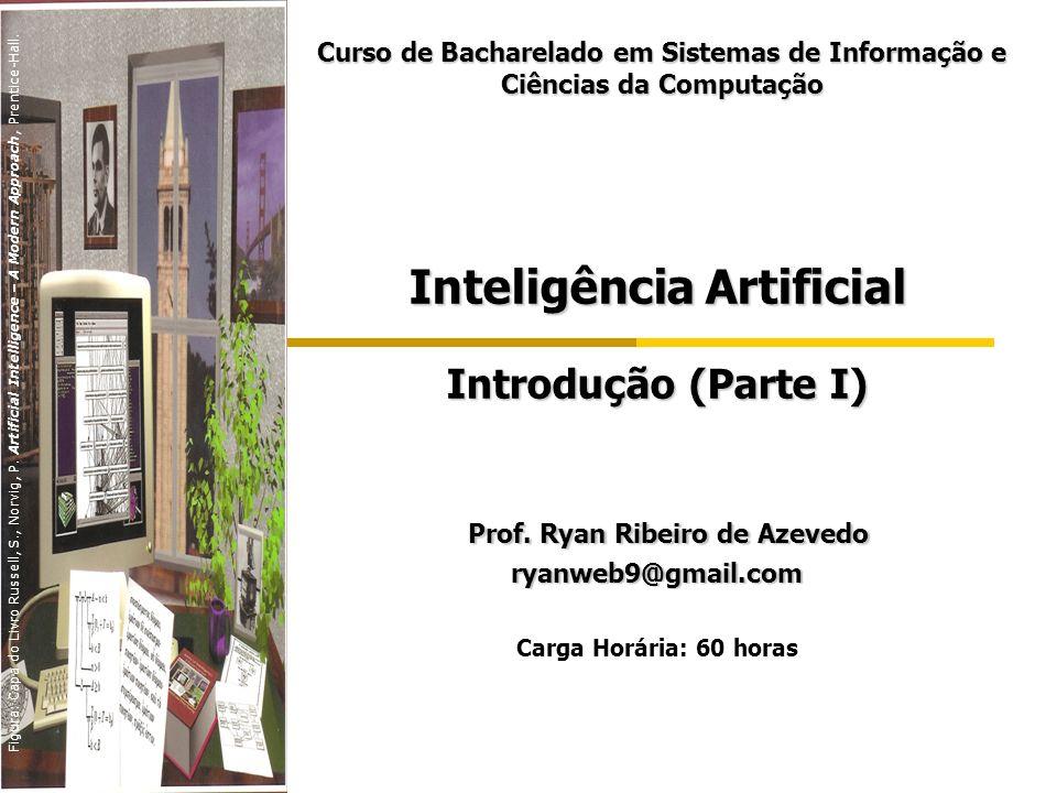 Inteligência Artificial Introdução (Parte I) Prof. Ryan Ribeiro de Azevedo Prof. Ryan Ribeiro de Azevedoryanweb9@gmail.com Carga Horária: 60 horas Cur