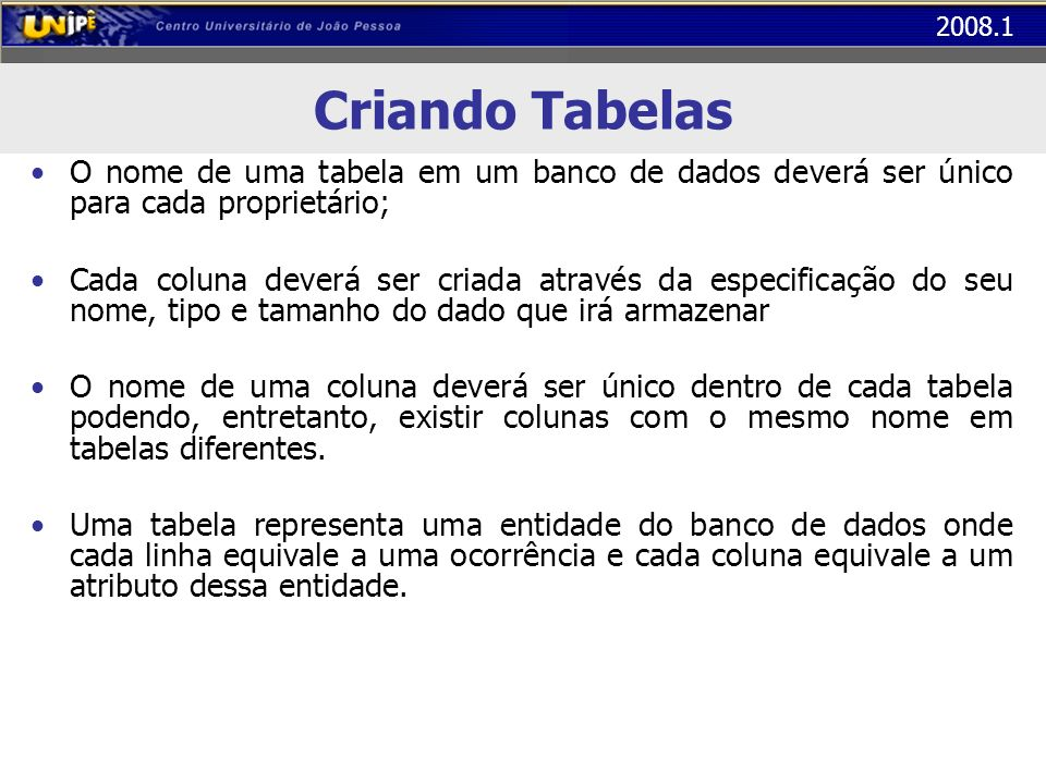 2008.1 Comandos SQL - Inserção INSERT INTO clientes (nome,cpf,data_nasc,sexo,salario) VALUES (Ana Moura, 8245738, 1979-10-02, F, 650.39) INSERT INTO dvd (titulo,genero,duracao) VALUES (Matrix, Ficção, 02:30:00) INSERT INTO locacoes VALUES (1, 1, 2003-11-11)