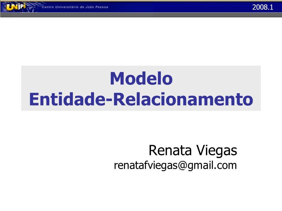 2008.1 Modelo Entidade-Relacionamento Renata Viegas renatafviegas@gmail.com