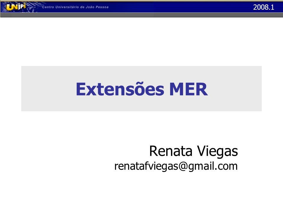2008.1 Extensões MER Renata Viegas renatafviegas@gmail.com