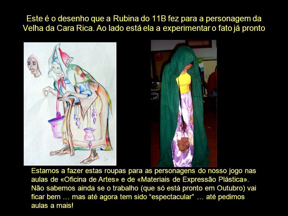 Este é o desenho que a Rubina do 11B fez para a personagem da Velha da Cara Rica.