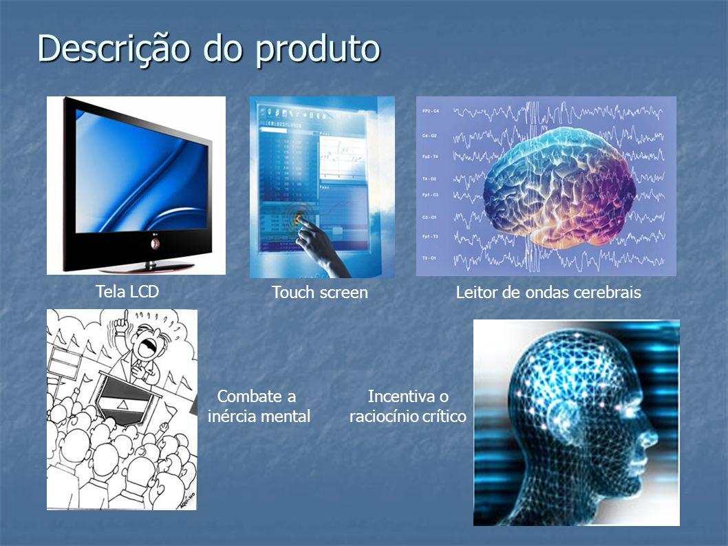 Descrição do produto Tela LCD Touch screenLeitor de ondas cerebrais Incentiva o raciocínio crítico Combate a inércia mental
