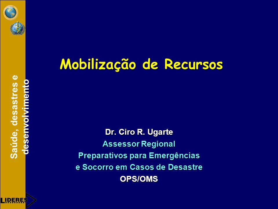 Saúde, desastres e desenvolvimento Mobilização de Recursos Dr.