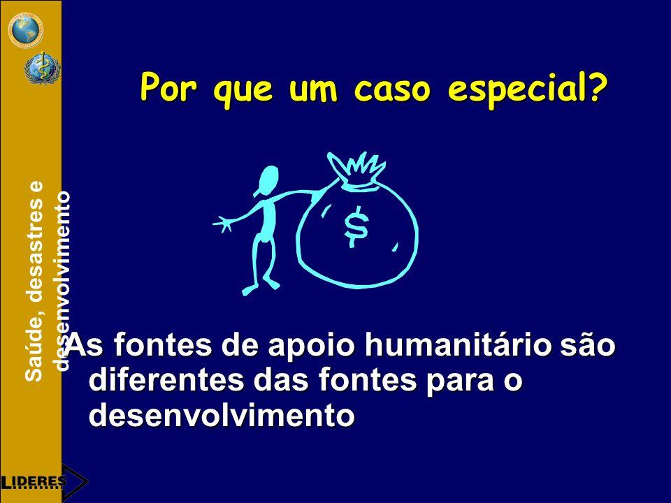 Saúde, desastres e desenvolvimento Por que um caso especial.