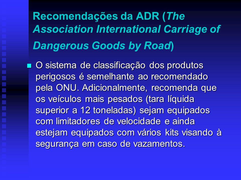 Para uniformizar os procedimentos internacionais para o comércio de produtos perigosos. Através da Relação de Produtos Perigosos, a ONU introduziu uma