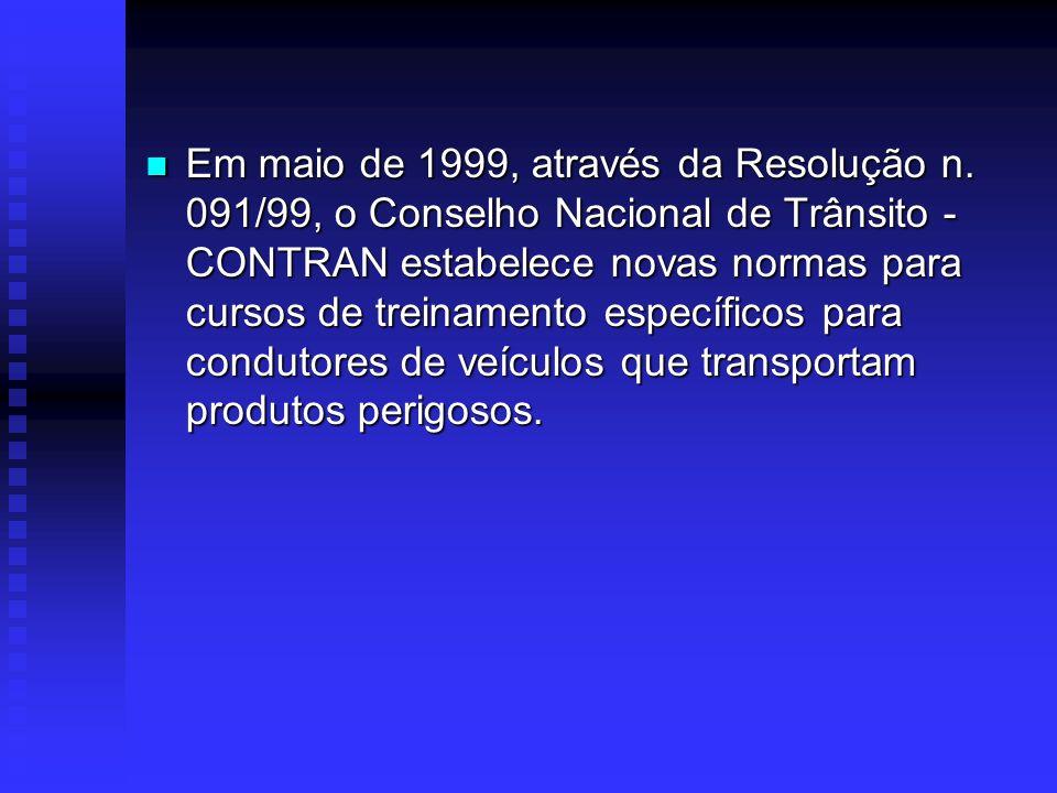 Através do Decreto n 0 1.797/96 (Acordo para a Facilitação do Transporte de Produtos Perigosos no Mercosul), foram estabelecidas normas e procedimento
