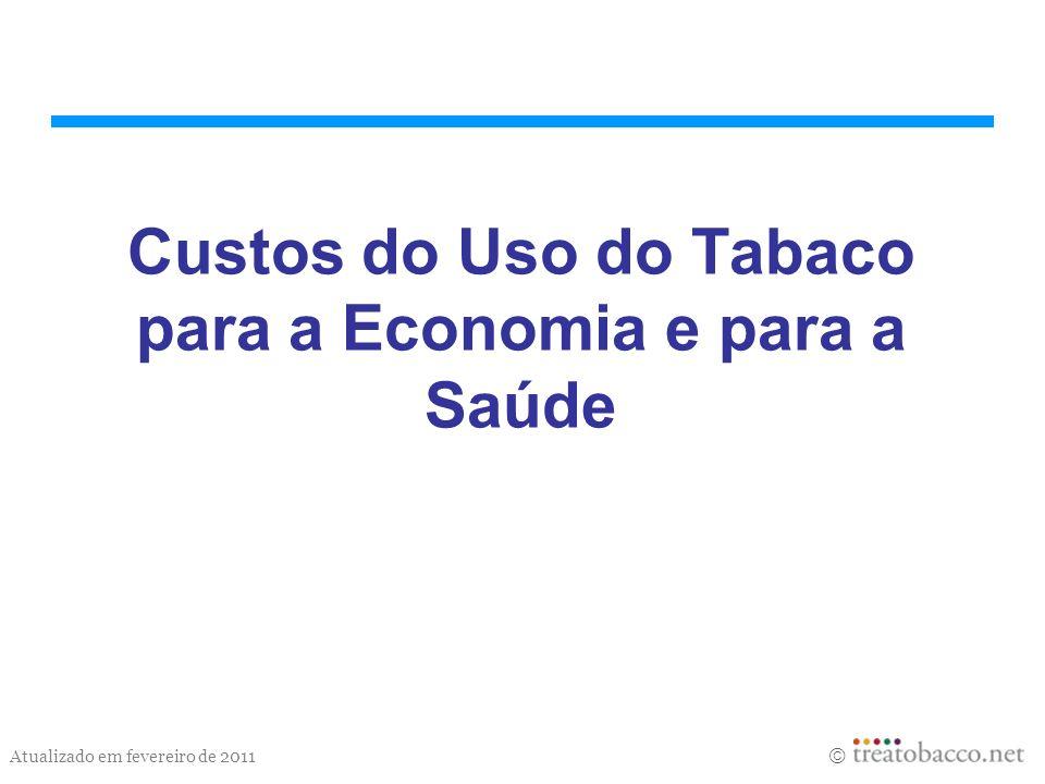 Atualizado em fevereiro de 2011 Custos do Uso do Tabaco para a Economia e para a Saúde