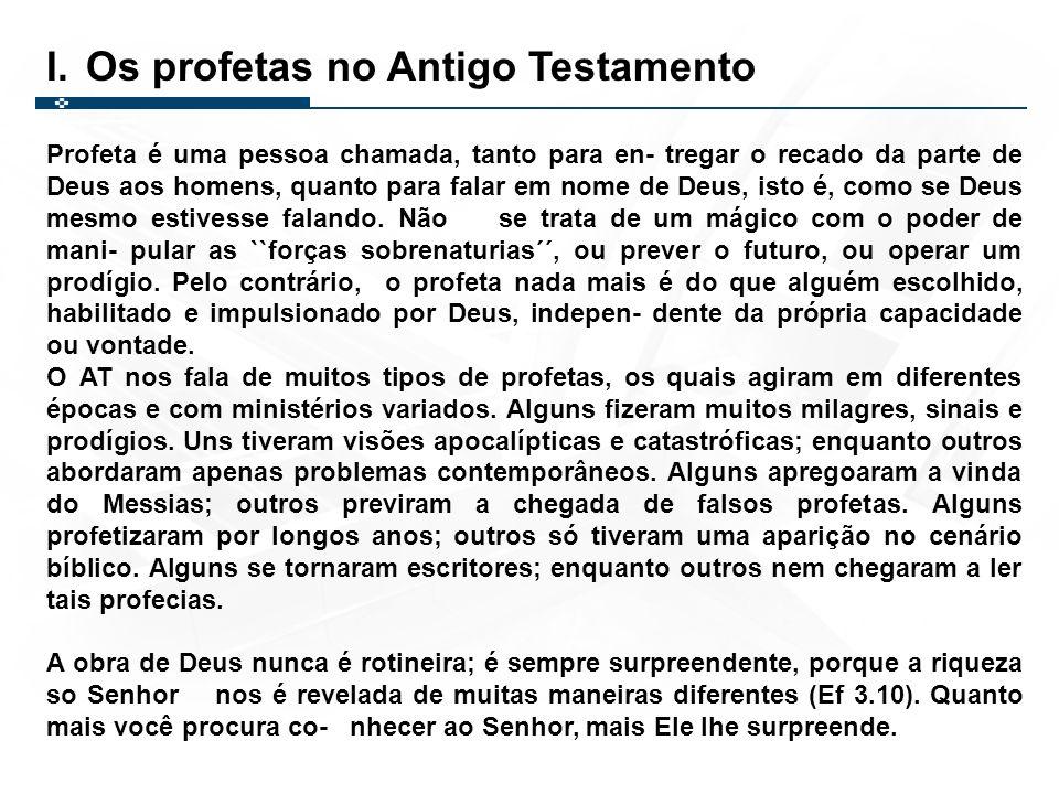 PRIMEIRA CLASSIFICAÇÃOSEGUNDA CLASSIFICAÇÃO Profecias condenatórias Anunciam juízo divino contra incredulidade e iniquidade do povo.