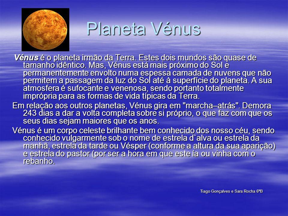 Vénus é o planeta irmão da Terra. Estes dois mundos são quase de tamanho idêntico. Mas, Vénus está mais próximo do Sol e permanentemente envolto numa