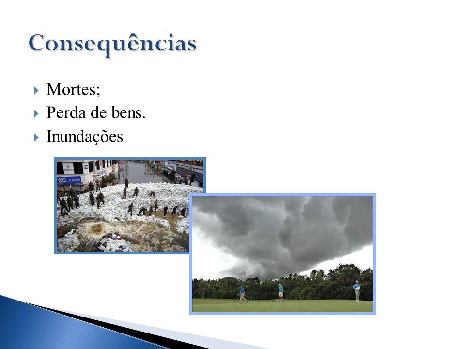 Mortes; Perda de bens. Inundações