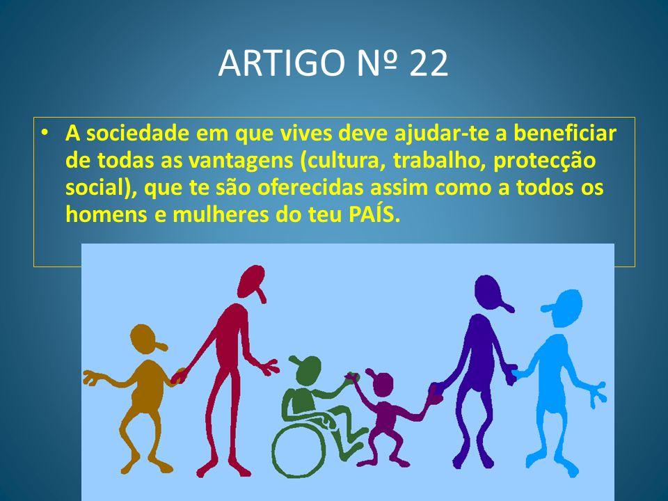 ARTIGO Nº 21 Tens o direito de participar nos assuntos políticos do teu país, quer fazendo parte do governo quer escolhendo os políticos que tenham as