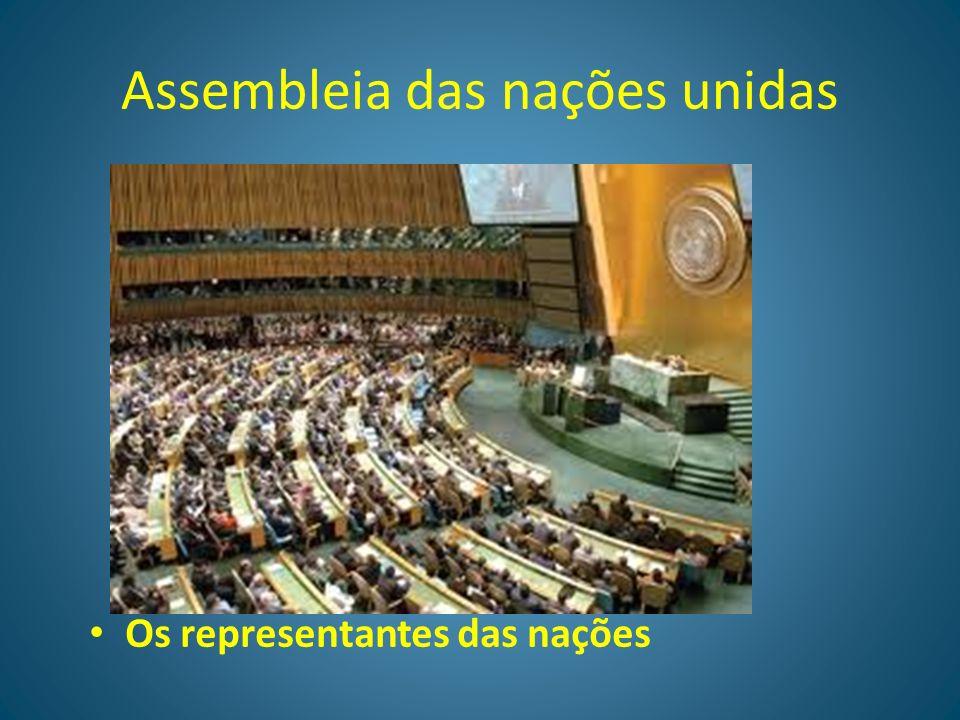 ONU ORGANIZAÇÃO DAS NAÇÕES UNIDAS Sede das nações unidas