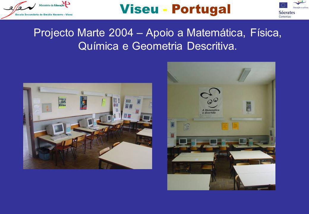 Viseu - Portugal Projecto Marte 2004 – Apoio a Matemática, Física, Química e Geometria Descritiva.