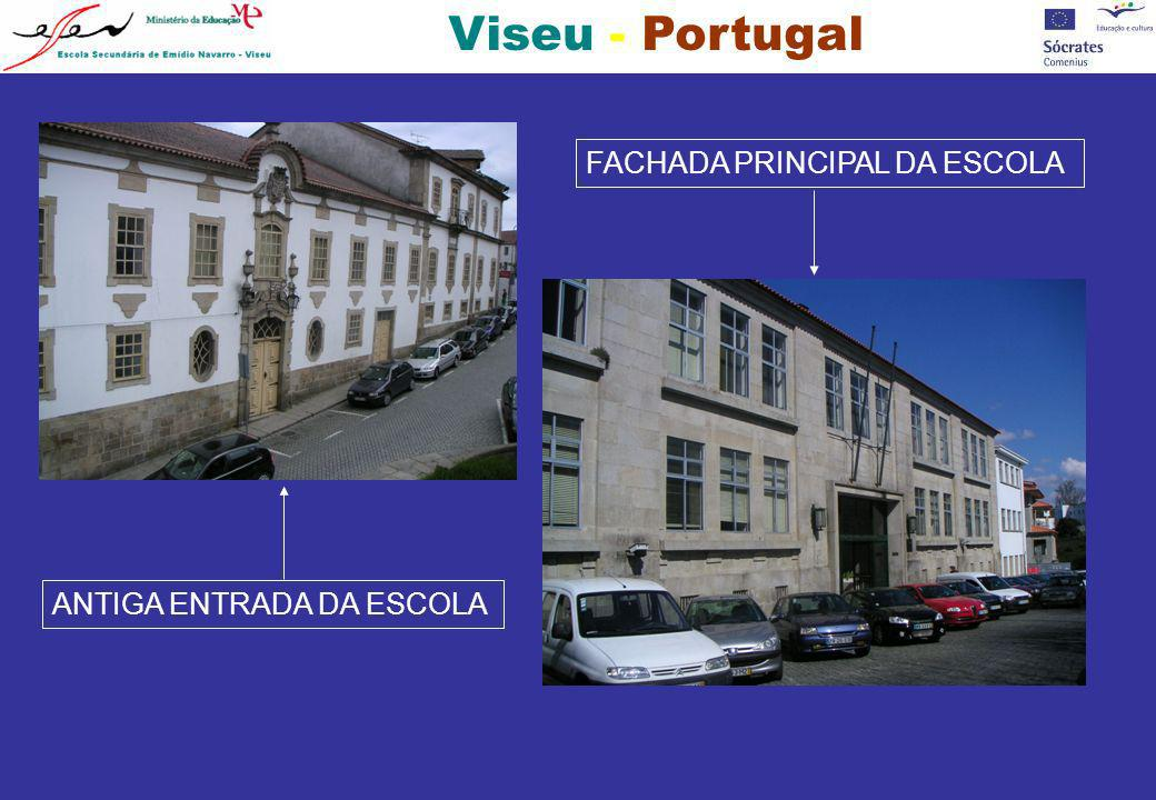 Viseu - Portugal Uma Escola centenária, instalada na Casa do Arco, onde viveu Tadeu de Albuquerque, pai de Teresa, a malograda heroína de Amor de Perdição...
