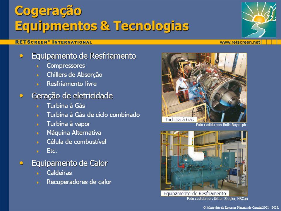 Cogeração Equipmentos & Tecnologias Equipamento de Resfriamento Equipamento de Resfriamento Compressores Chillers de Absorção Resfriamento livre Geraç