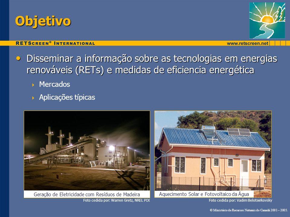Geração de Eletricidade com Resíduos de Madeira Objetivo Disseminar a informação sobre as tecnologias em energias renováveis (RETs) e medidas de efici
