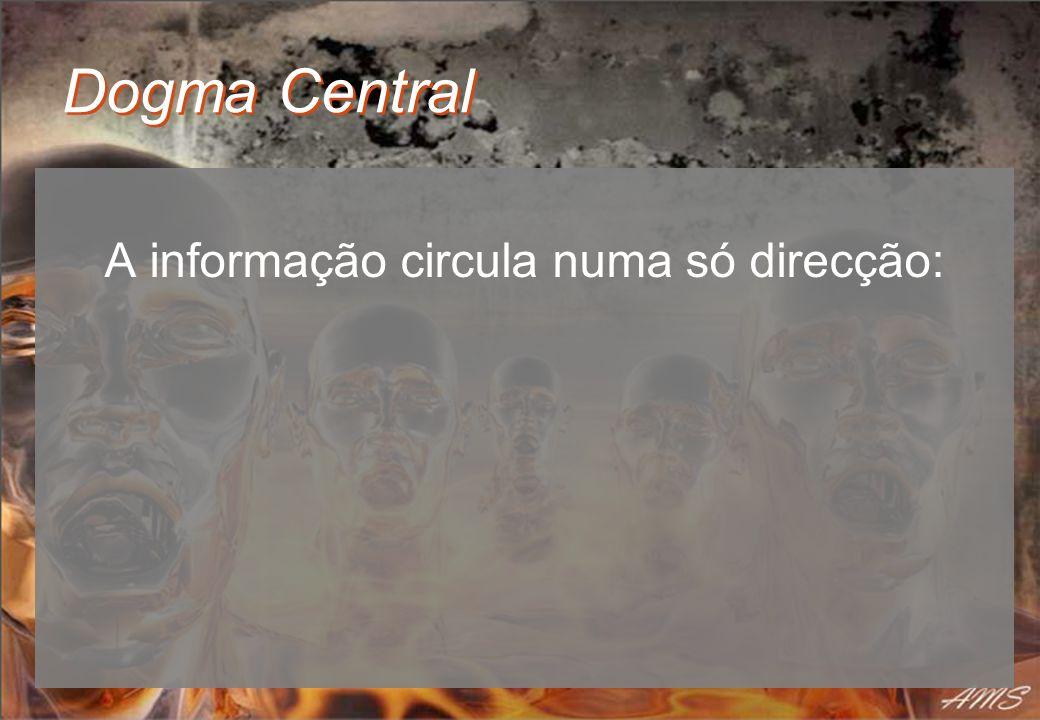 Dogma Central A informação circula numa só direcção: