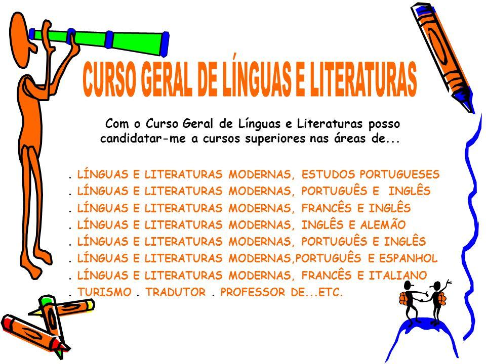 . LÍNGUAS E LITERATURAS MODERNAS, ESTUDOS PORTUGUESES. LÍNGUAS E LITERATURAS MODERNAS, PORTUGUÊS E INGLÊS. LÍNGUAS E LITERATURAS MODERNAS, FRANCÊS E I