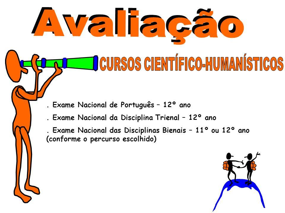 . Exame Nacional de Português – 12º ano. Exame Nacional da Disciplina Trienal – 12º ano. Exame Nacional das Disciplinas Bienais – 11º ou 12º ano (conf