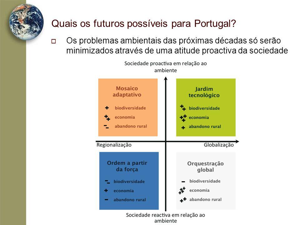 Quais os futuros possíveis para Portugal? Os problemas ambientais das próximas décadas só serão minimizados através de uma atitude proactiva da socied