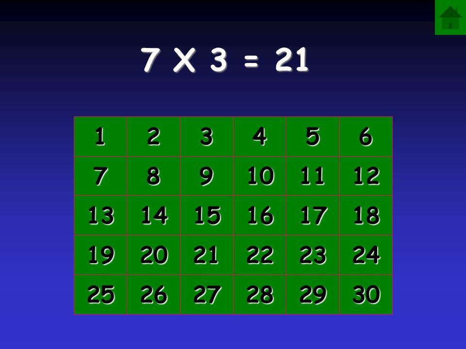 7 X 3 = 1111 2222 3333 4444 5555 6666 7777 8888 9999 10 11 12 13 14 15 16 17 18 19 20 21 22 23 24 25 26 27 28 29 30
