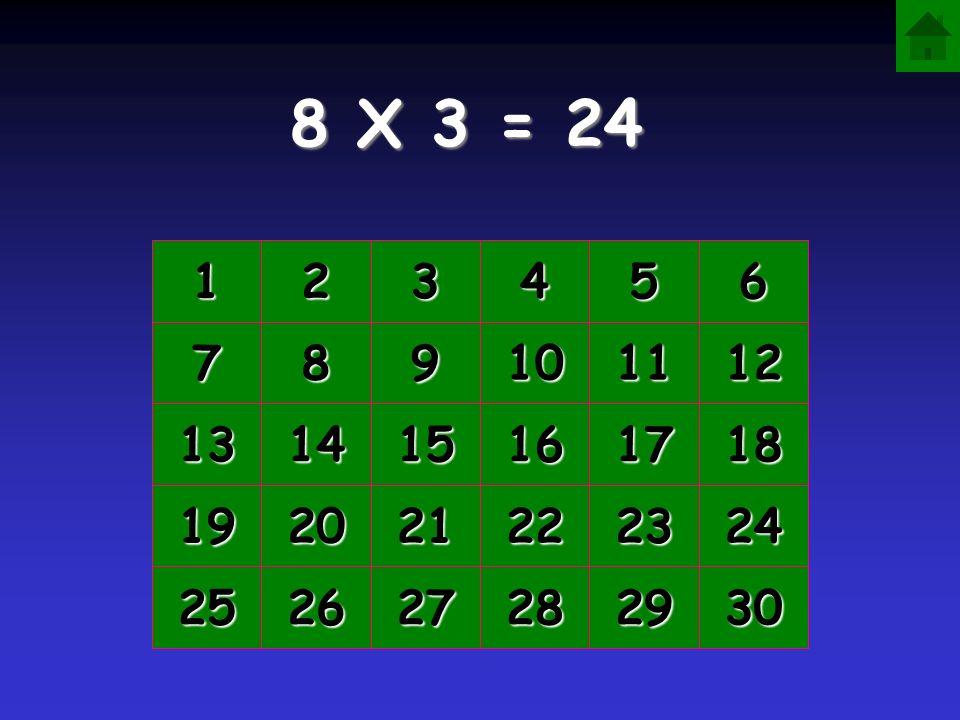 8 X 3 = 1111 2222 3333 4444 5555 6666 7777 8888 9999 10 11 12 13 14 15 16 17 18 19 20 21 22 23 24 25 26 27 28 29 30
