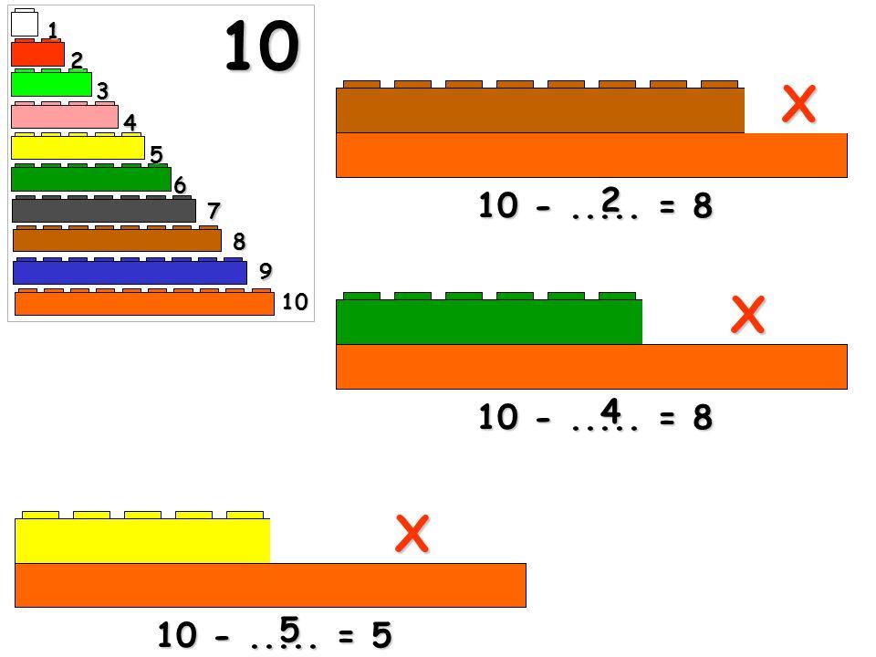 10 -..... = 9 1 X X 10 -..... = 7 3 1 2 3 4 5 6 7 8 10 9 10