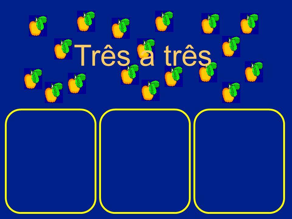 Esta é a forma mais rápida de repartir a fruta. Seis a seis