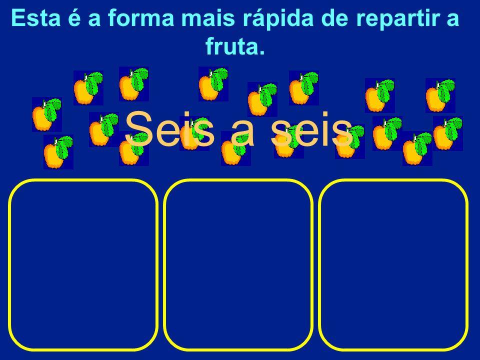 Repartir elementos em partes iguais pode ser muito demorado se a partilha for feita um a um,dois a dois ou mesmo três a três.