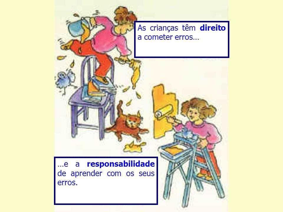 As crianças têm direito a cometer erros… …e a responsabilidade de aprender com os seus erros.