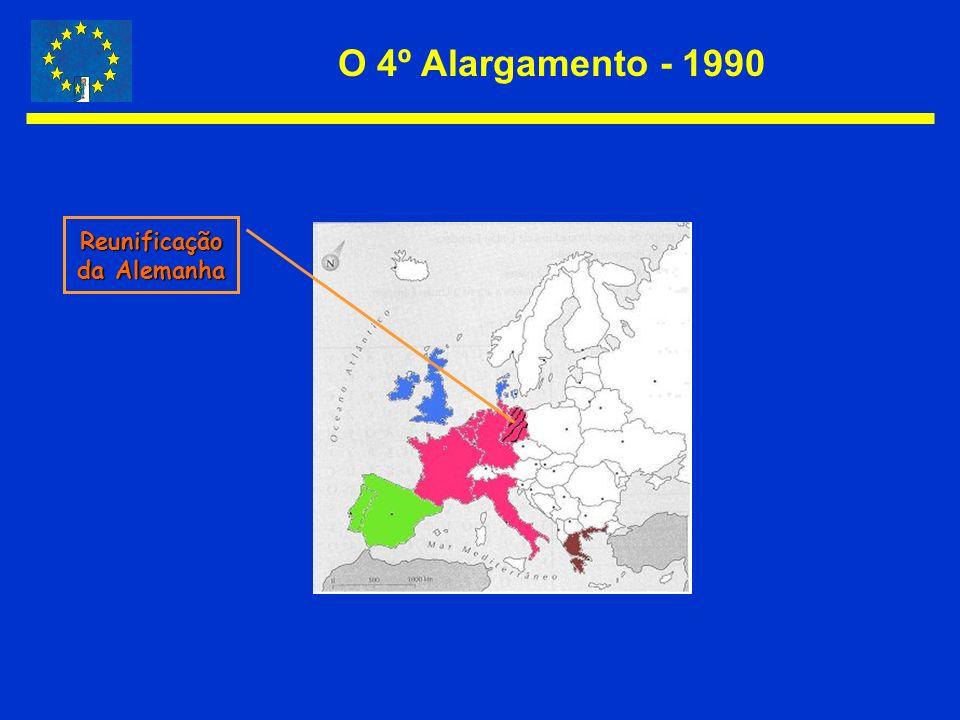 O 4º Alargamento - 1990 Reunificação da Alemanha