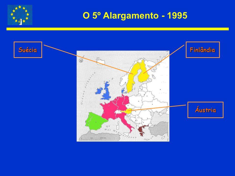 O 5º Alargamento - 1995 SuéciaFinlândia Áustria