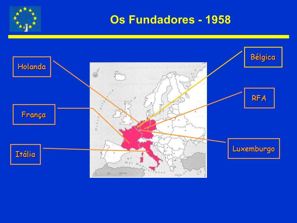 Os Fundadores - 1958 Bélgica RFA Luxemburgo Itália França Holanda