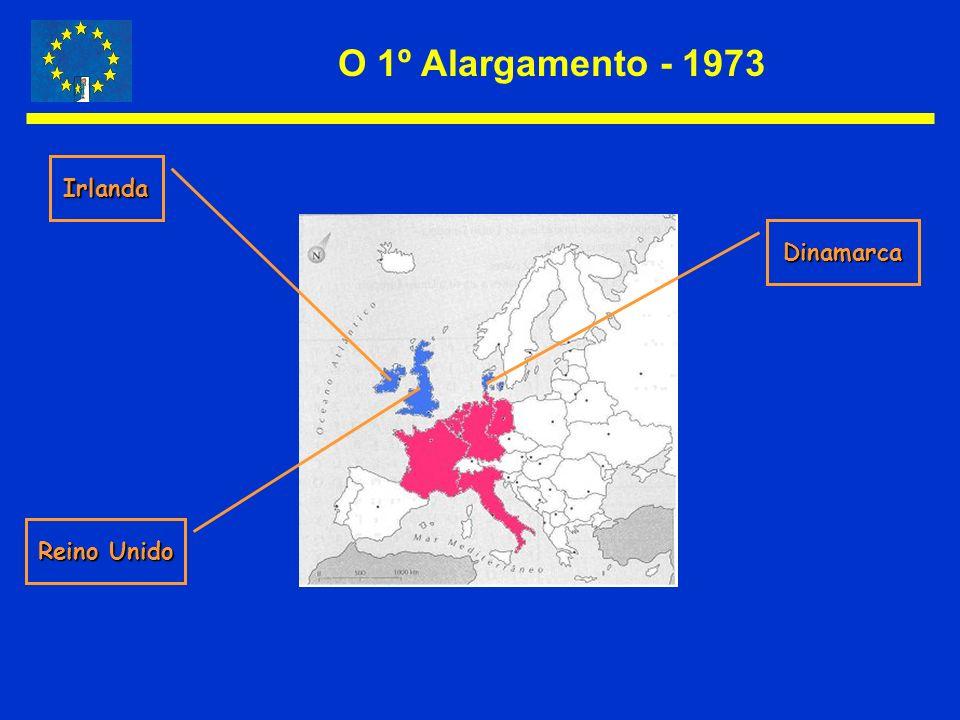 O 1º Alargamento - 1973 Dinamarca Irlanda Reino Unido