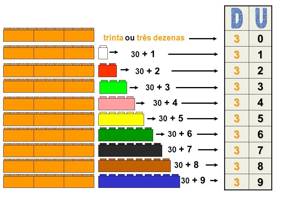 40 41 42 43 44 45 46 47 48 49 40 + 1 40 + 2 40 + 3 40 + 4 40 + 5 40 + 6 40 + 7 40 + 8 40 + 9 quarenta ou quatro dezenas