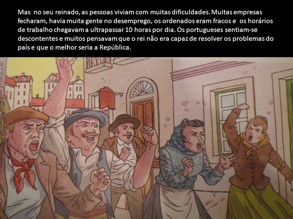 Para complicar a situação, Portugal teve um problema com a Inglaterra por causa das colónias que tínhamos em África.