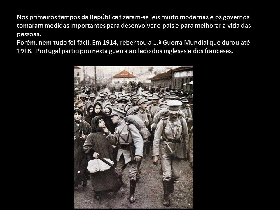 Mas com a República, as pessoas passaram a ter mais liberdade, começaram a trabalhar menos horas e a ter um dia de descanso por semana.
