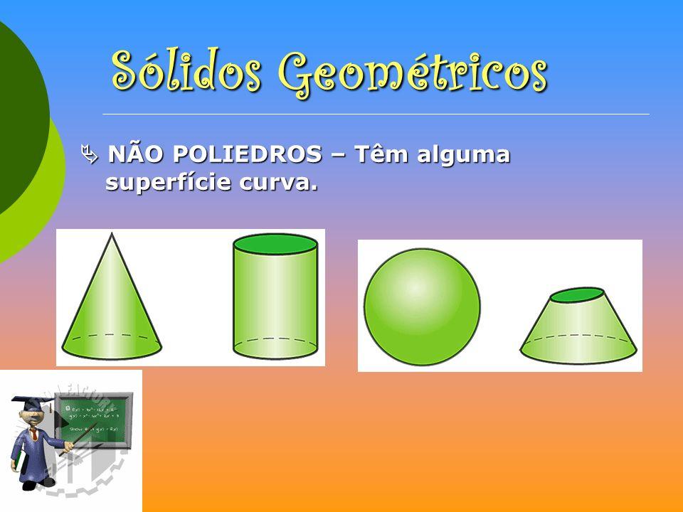 CLASSIFICAÇÃO de PRISMAS e PIRÂMIDES Os prismas são poliedros em que as bases são geometricamente iguais e paralelas; as suas faces laterais são paralelogramos (quadrados ou rectângulos).