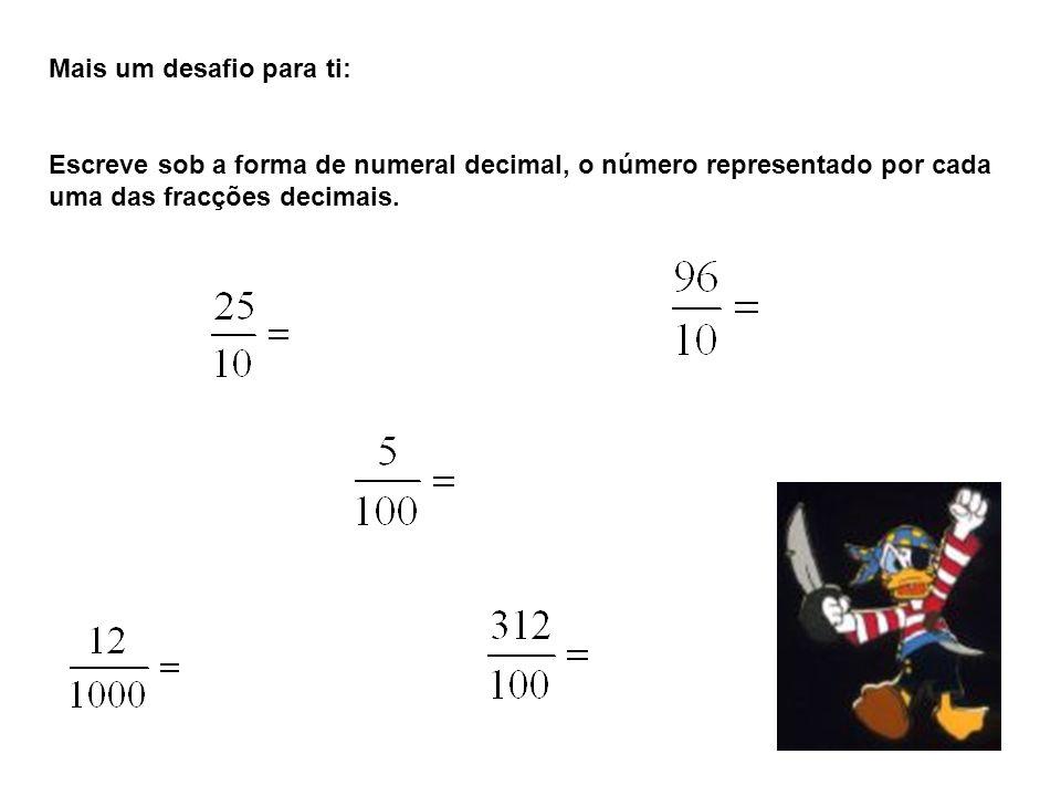Fracções com igual denominador….