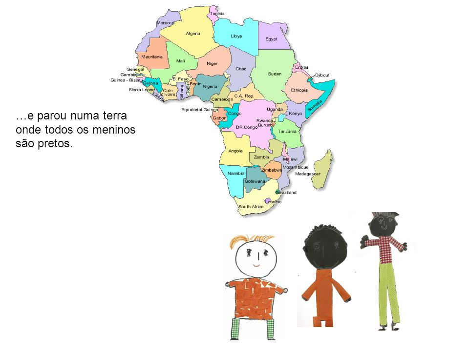 Fez-se amigo de um pequeno caçador chamado Lumumba que, como os outros meninos pretos, dizia: É bom ser preto como a noite preto como as azeitonas preto como as estradas que nos levam para toda a parte.